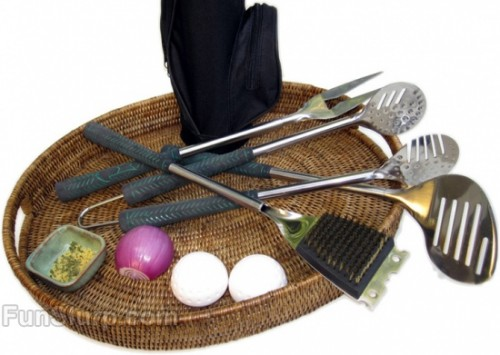 golf barbecue grilling set