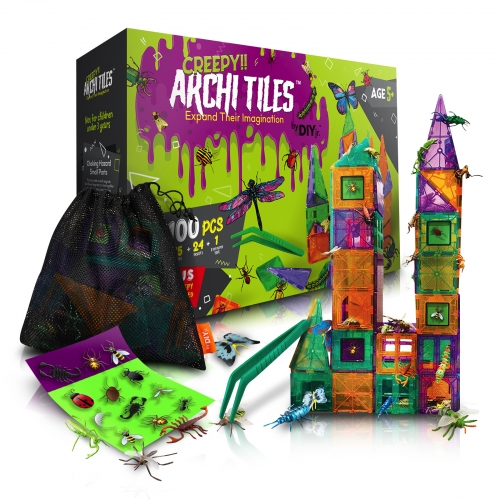 Creepy Archi Tiles Magnetic Building Set