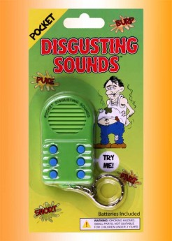 Disgusting Sounds Key Chain