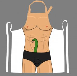 Snake in Pants Apron