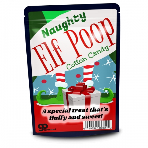 Naughty Elf Poop Cotton Candy