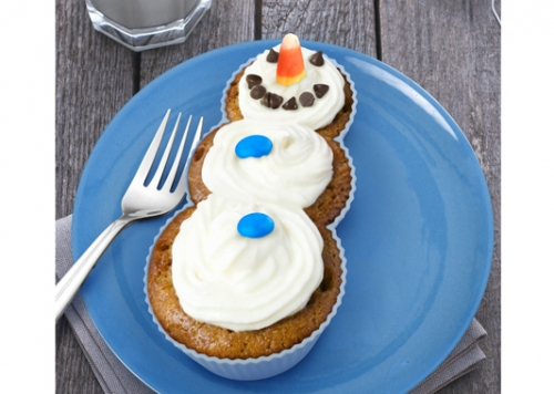 Frosted Snowman Cupcake Molds