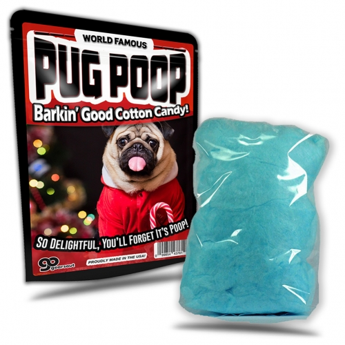 Pug Poop Cotton Candy