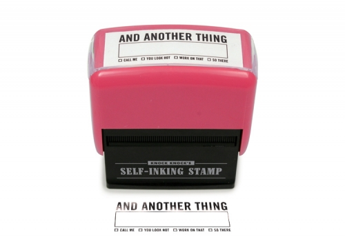 And Another Thing Stamp