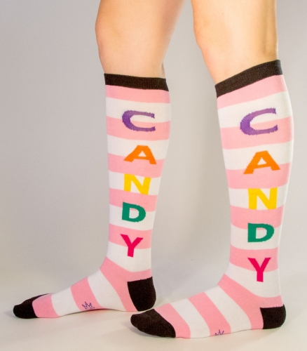 CANDY SOCKS - PINK/WHITE/BLACK