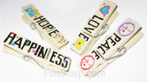 Peace, Love, Hope and Happiness Chip Clips