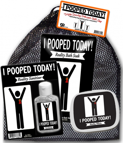 I Pooped Today Triple Doody Deluxe Gift Set