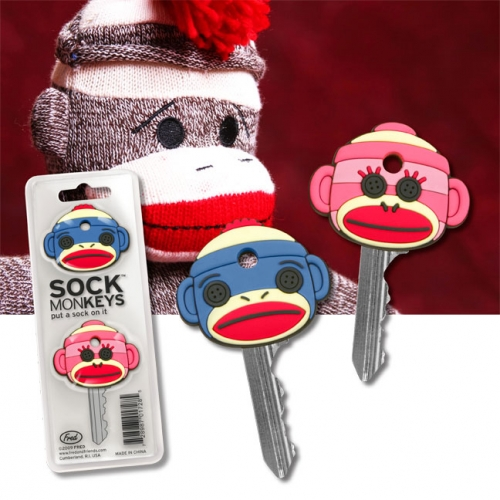 Sock Monkey Key Covers