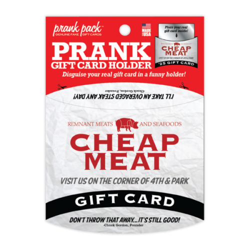 Cheap Meats Prank Gift Card Holder