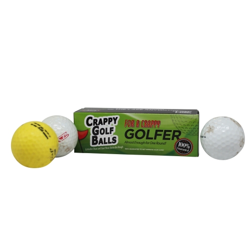 Crappy Golf Balls for a Crappy Golfer - Gift Box Edition