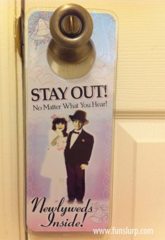Newlywed Door Hanger: Stay Out!