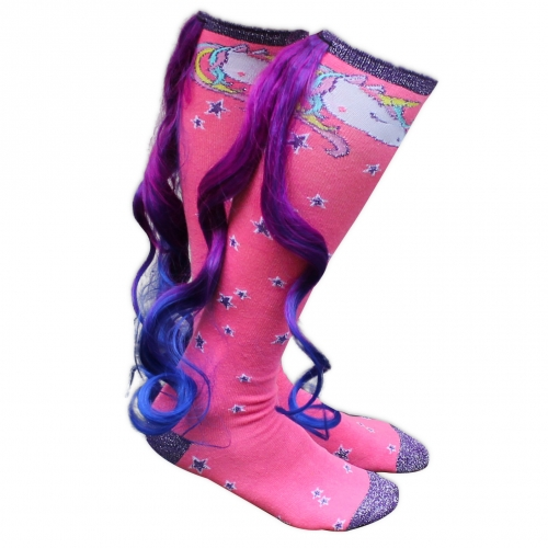 Magical Unicorn Socks with Tail