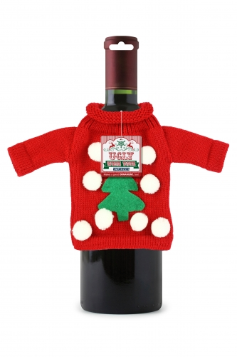 Ugly Christmas Sweater Wine Tote