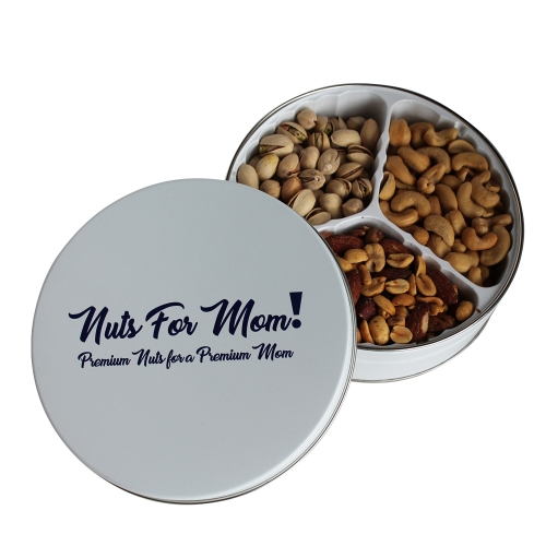 Nuts For Mom Gift Tin, Premium Nut Assortment