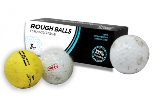 Rough Balls for a Rough Game Golf Balls