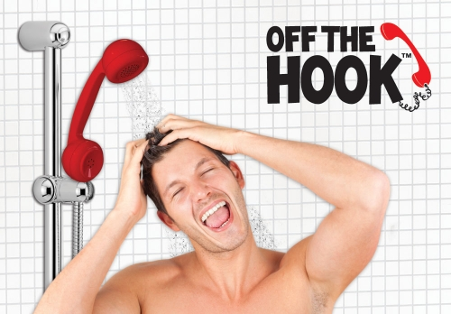 Off the Hook Phone Shower Head