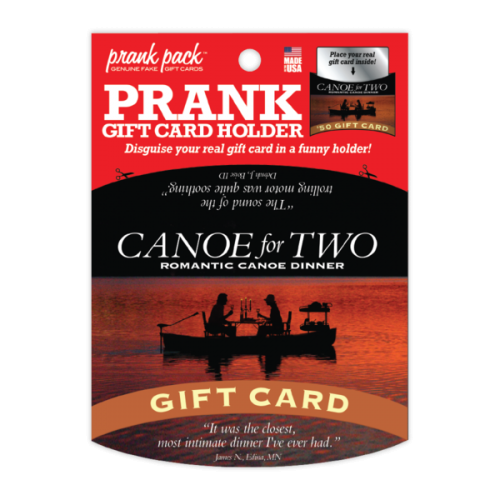 Canoe For Two Prank Gift Card Holder
