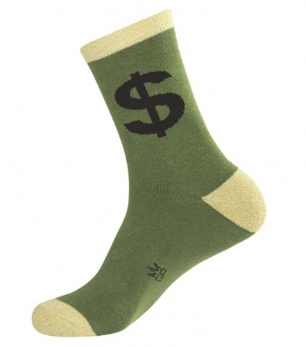 Dollar Sign Socks