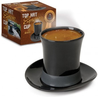 Top Hat Espresso Cup and Saucer