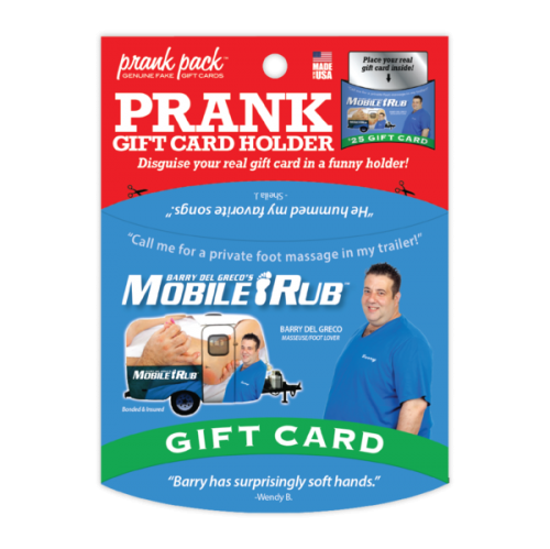 Mobile Rub Prank Gift Card Holder
