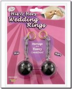 Ball and Chain Wedding Ring Set
