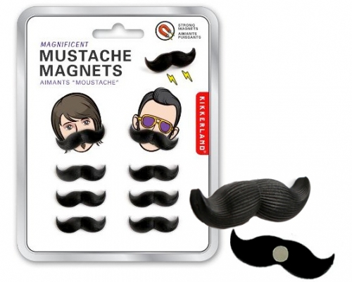 Mustache Magnets: Set of 8