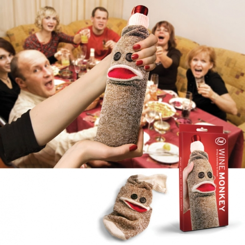 Sock Monkey Wine Caddy
