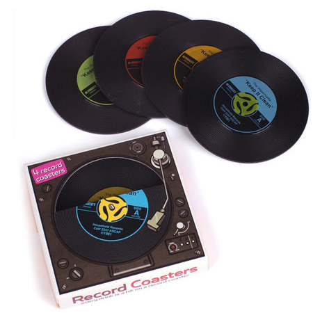 Record Coasters - 4 Pack