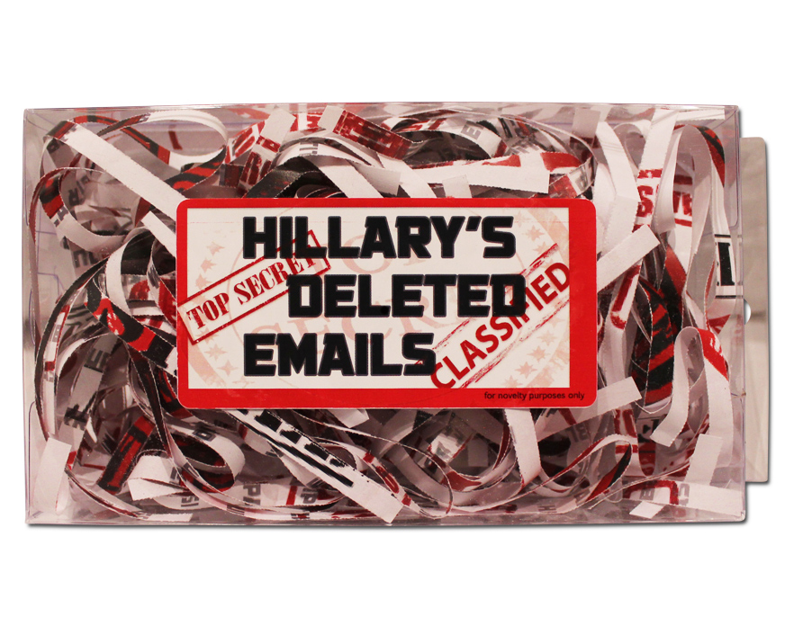 Hillary clinton deleted emails hillarys deleted emails gag gift negle Choice Image