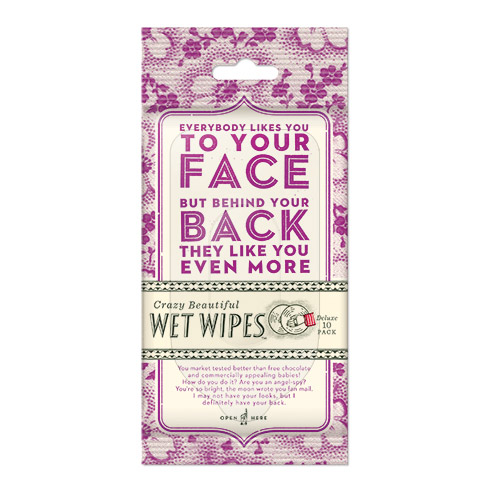 Everybody Likes You To Your Face Wet Wipes
