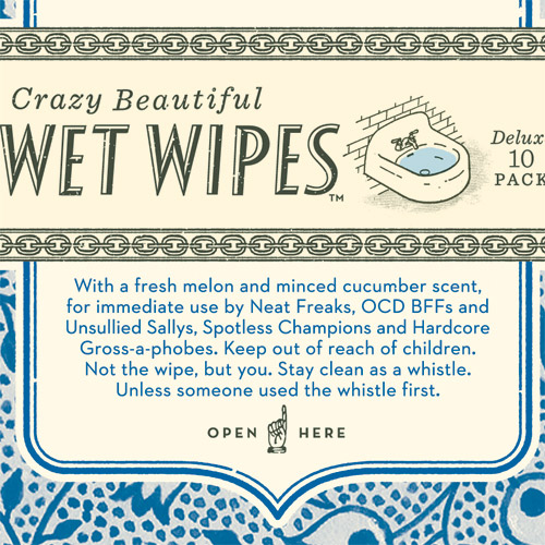 compulsively awesome wet wipes