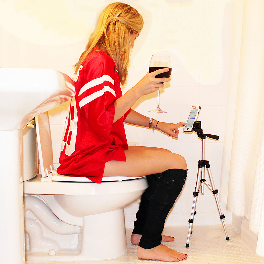 Potty Texter Toilet Texting Stand