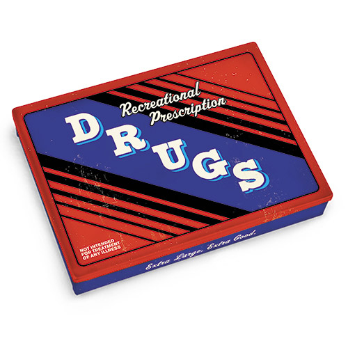 Recreational Drugs Tin Pocket Box