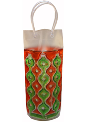Chill It Wine Bag: Red & Green