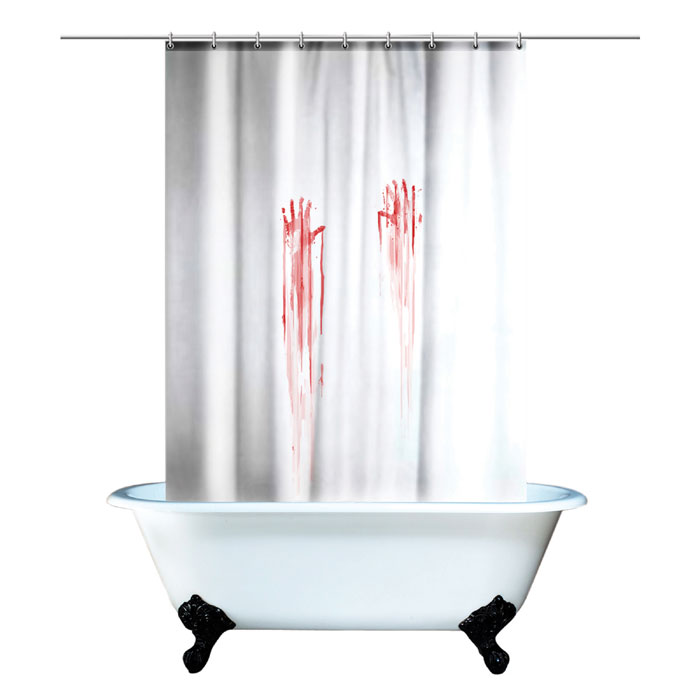 Bloody Bath Shower Curtain