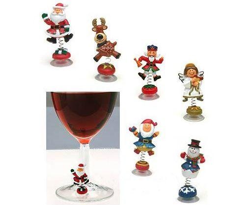 christmas wine charms 1295 funslurpcom unique gifts and fun products by funslurp - Christmas Wine Charms