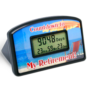 Countdown to Retirement Clock