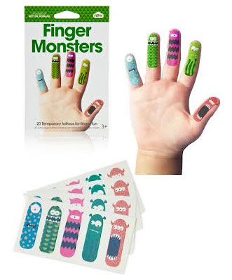 Finger Monster Tattoos