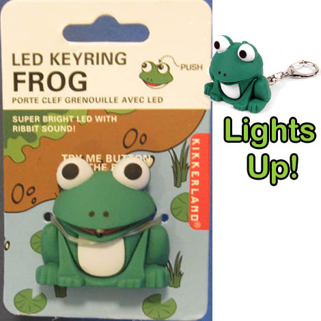 LED Frog Key Chain