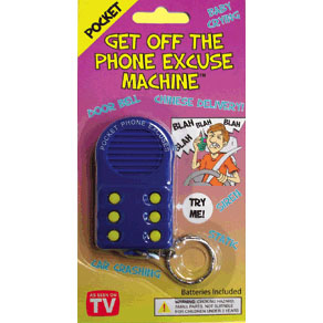 Get Off The Phone Excuse Key Chain