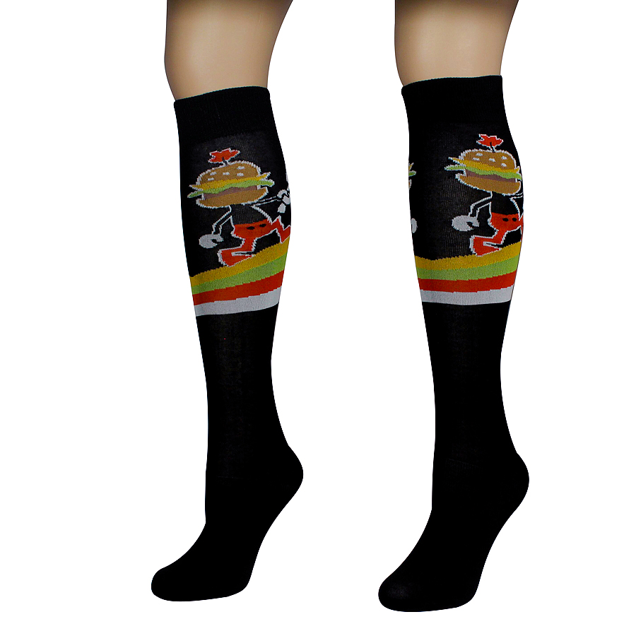 Hamburger Man Socks