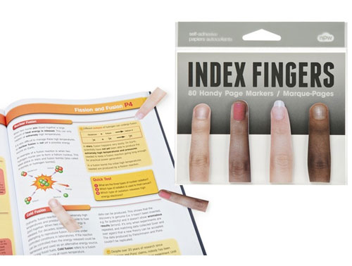 Index Finger Sticky Page Markers