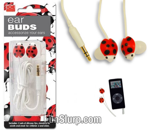Ladybug Ear Phones
