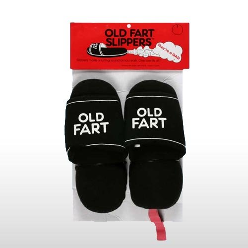 Old Fart Farting Slippers