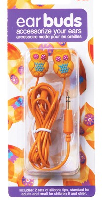 Owl Earbuds - Orange