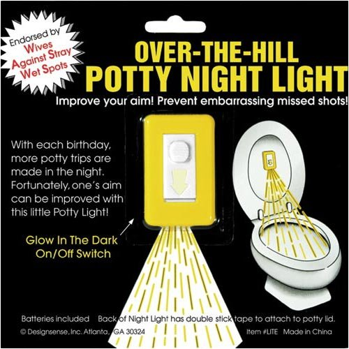 Over The Hill Toilet Night Light
