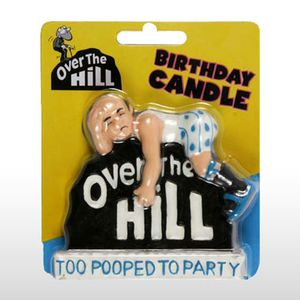 Over the Hill Pooped Party Candle