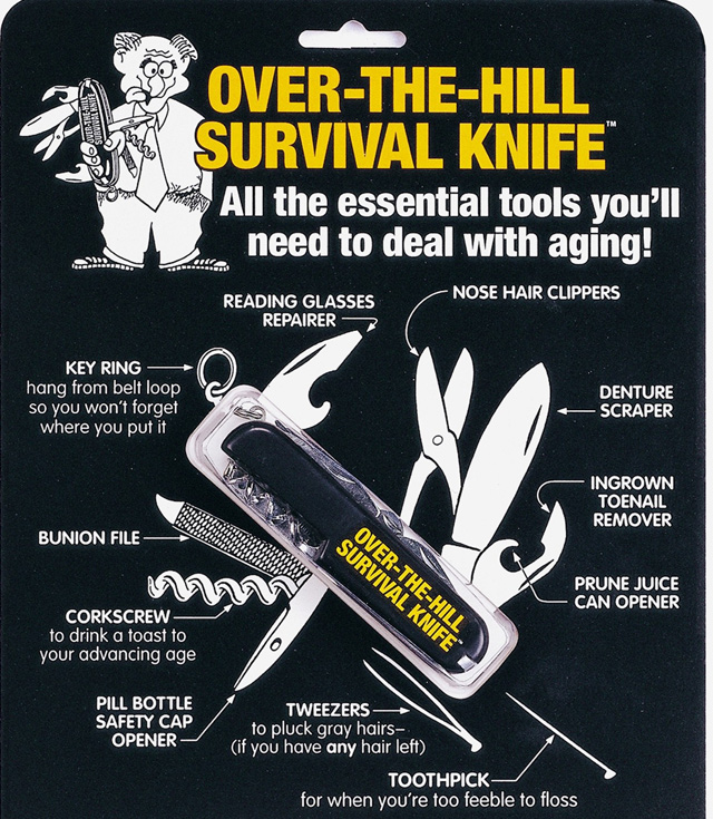 over the hill survival knife 9 95 funslurp com unique gifts