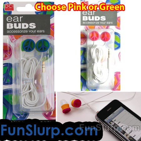 Peace Earbuds - Pink
