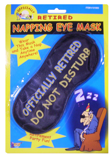 Retired Napping Mask